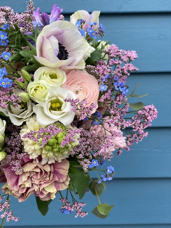 Blumen mit blauen Hintergrund